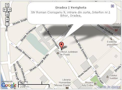 Adresa Bijuteria Verigheta in Oradea