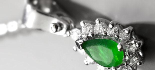Bijuterii din aur cu smaralde si diamante