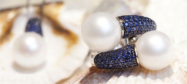 Bijuterii din aur cu perle