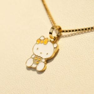 Lantisor din aur cu pandantiv Hello Kitty